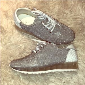 Sixtyseven Silver Glitter Sneakers 36
